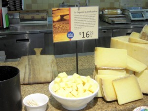 typical Whole Foods cheese sample