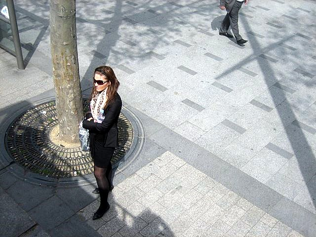 a thin French woman in Paris