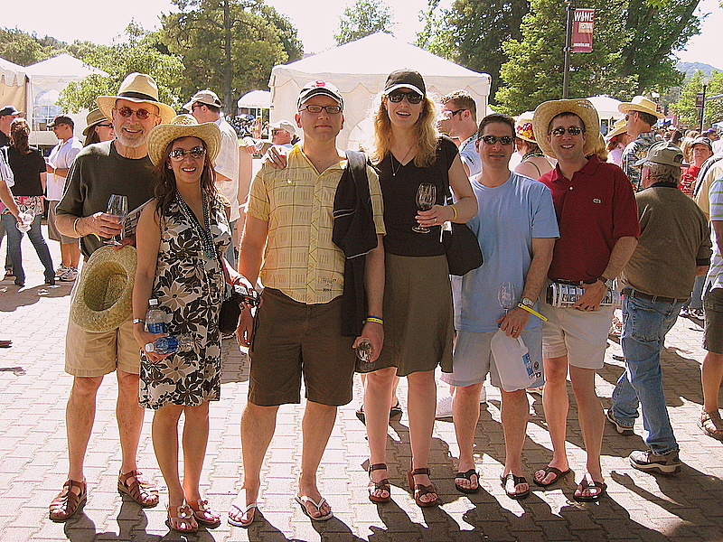 Jasper, Jasmine and some of the WC tasting crew in 2007