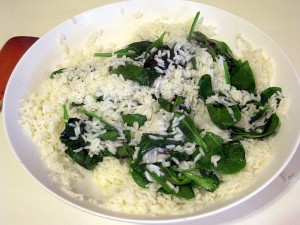 DAY 3: spinach rice