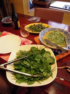 DAY 4: spinach salad