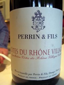 Cotes du Rhone Villages Perrin et Fils 2007