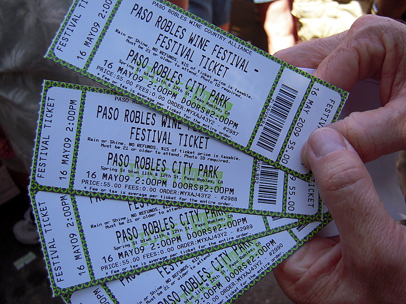 tickets in hand, we're ready to drink!