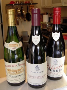 a sampling of 2007 Rhones