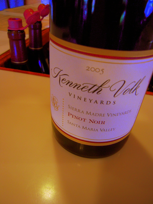 Kenneth Volk pinot noir, very tasty!