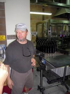 winemaker Miro leading the behind-the-scenes tour of Trentadue