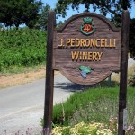 Pedroncelli Winery sign