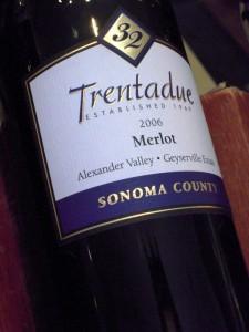 Trentadue merlot was really good!