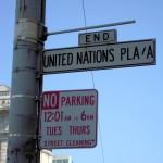 UN plaza sign