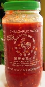 our preferred chili garlic sauce