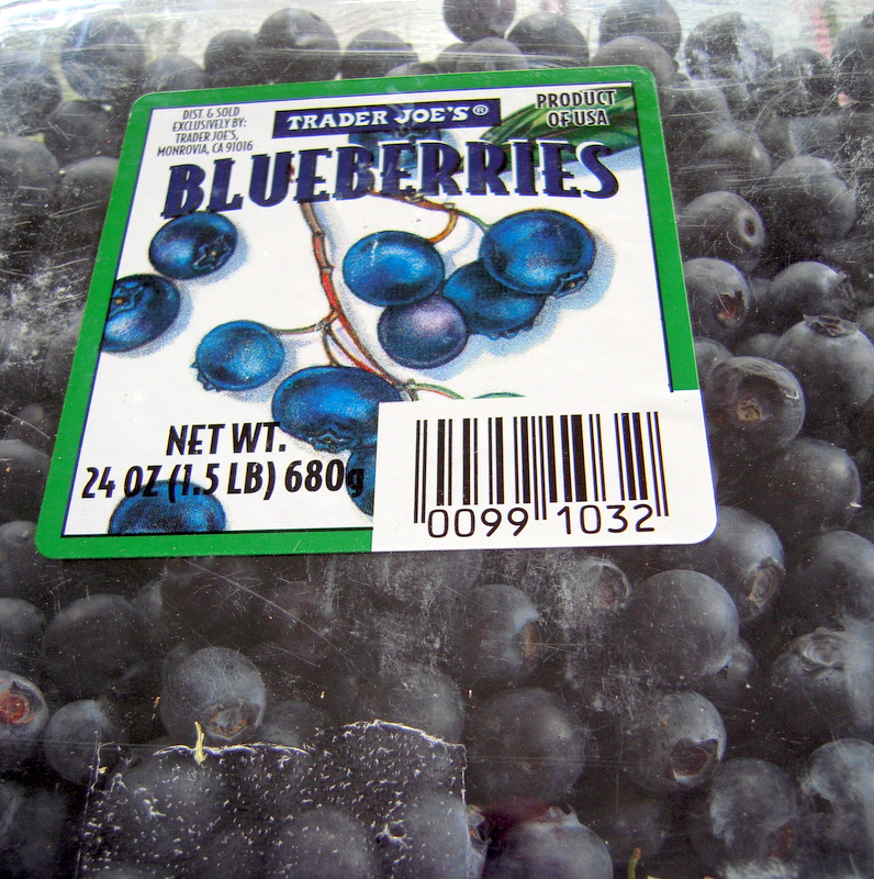 fresh store-bought blueberries