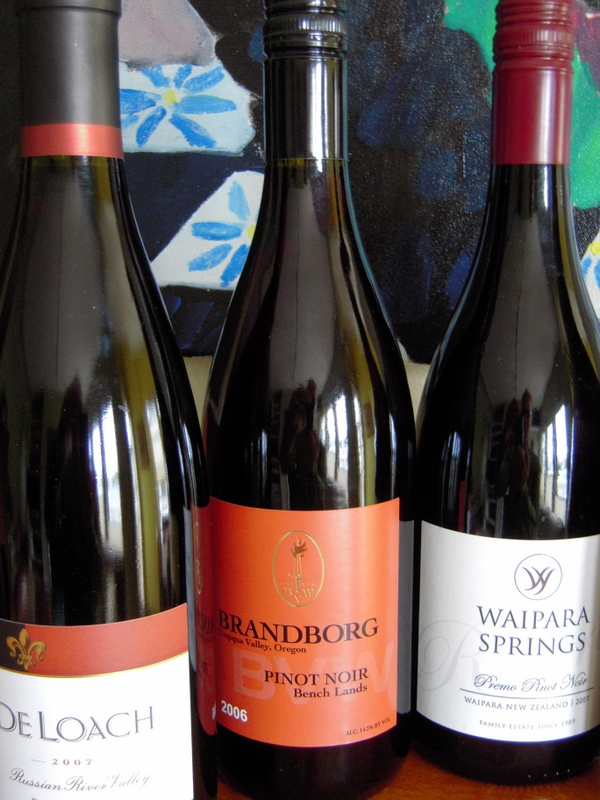 three of our under-$20 pinot noirs