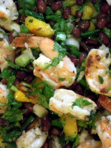 grilled shrimp, black bean & mango salad