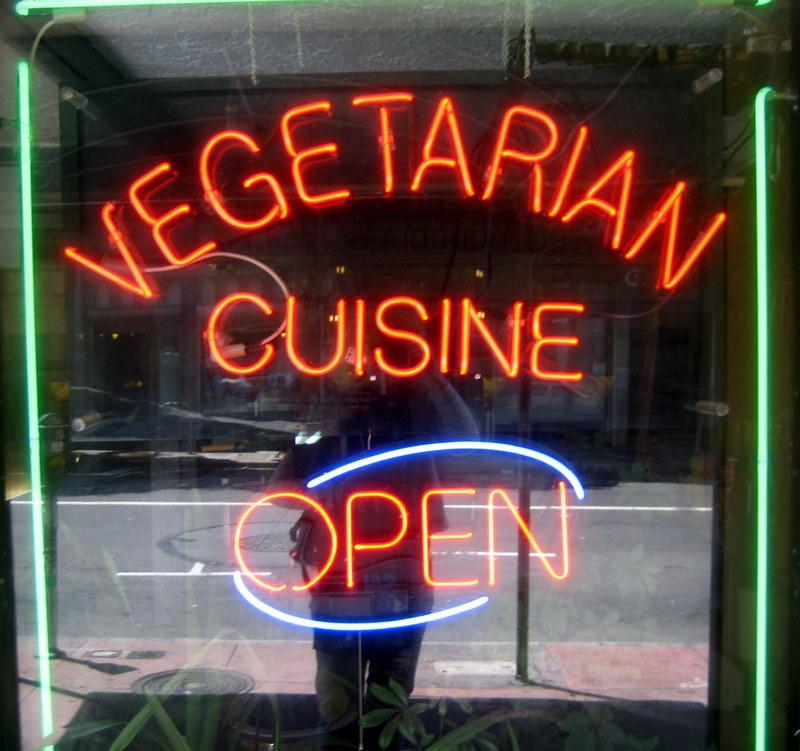 neon vegetarian