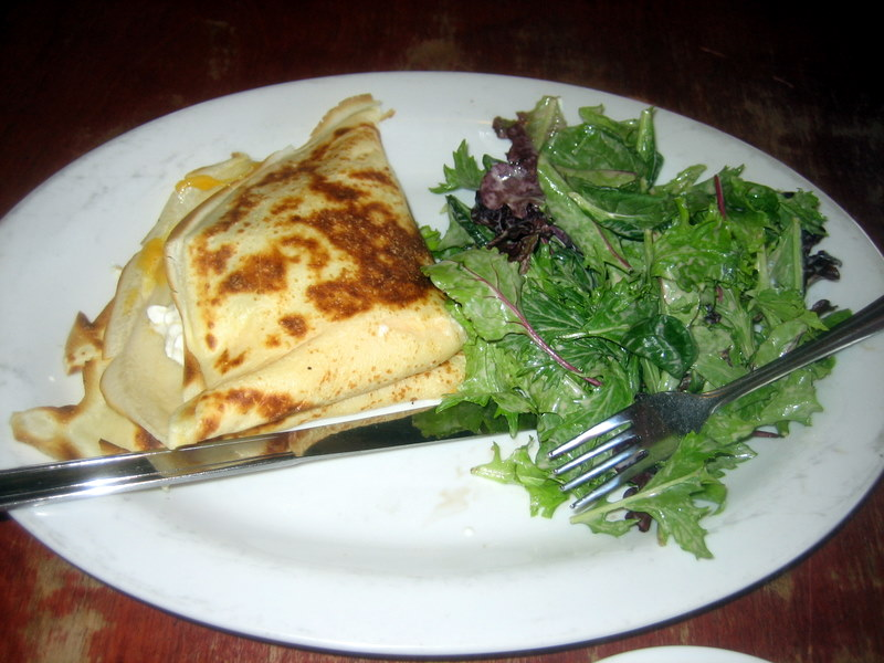 yummy stuffed savory crepe from Crepe House