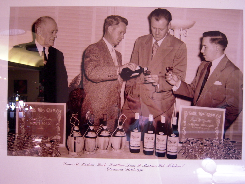 a classic tasting of Louis M. Martini wines in 1952