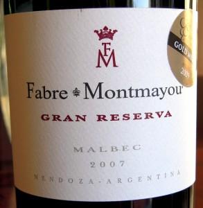 Fabre Montmayou Argentine malbec