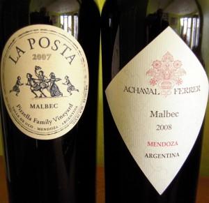 La Posta and Achaval Ferrer Argentine malbecs