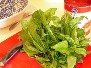 fresh Italian basil is critical to bring out the delicate flavors of this dish