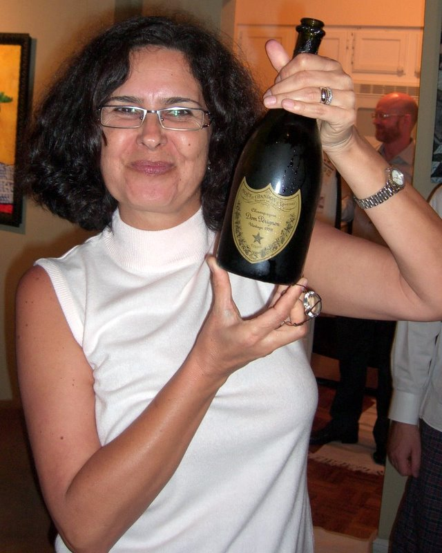 I think that Julia Child would have been down with this bottle of Dom Perignon for a party