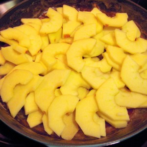 layering apples