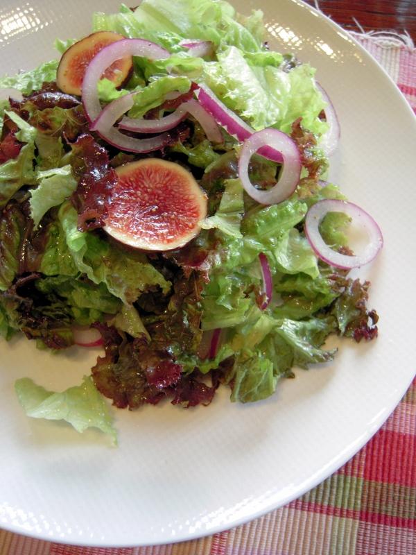 fig salad with homemade vinaigrette