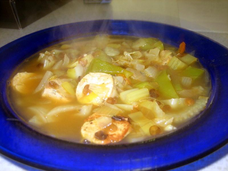 finished skinny soup