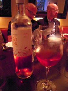 the malbec rose matched the food well and was the cheapest thing on the menu!