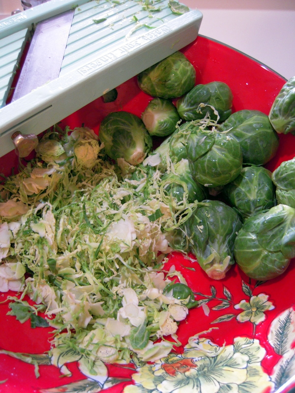 shaving the sprouts is the secret for this dish