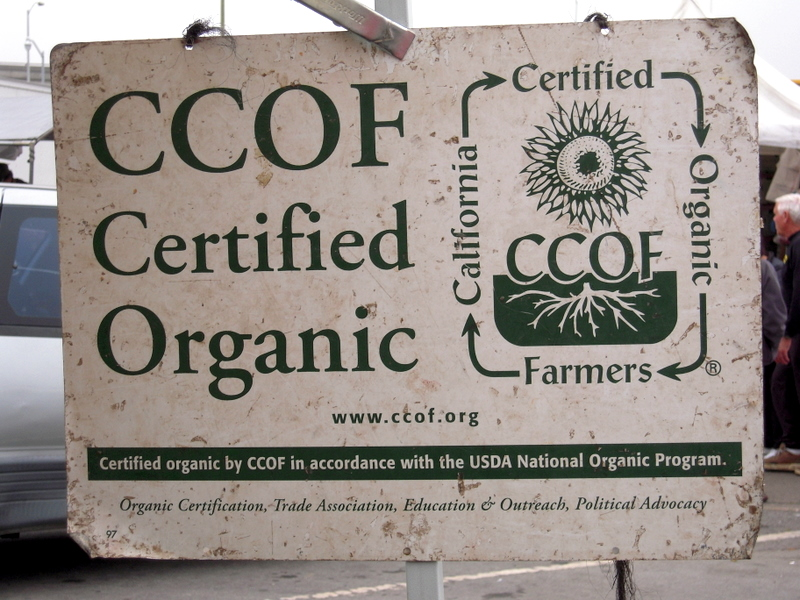 many vendors are CCOF California Certified Organic Farmers