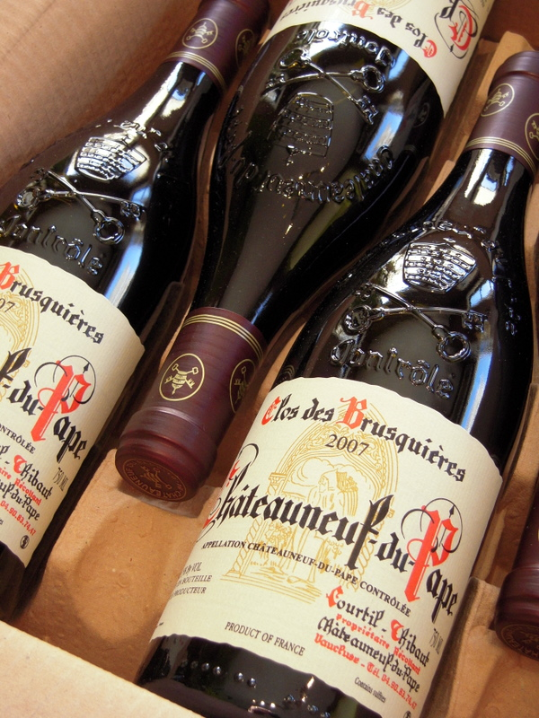 my case of 2007 CdP Clos de Brusquieres pre-arrivals is finally here!