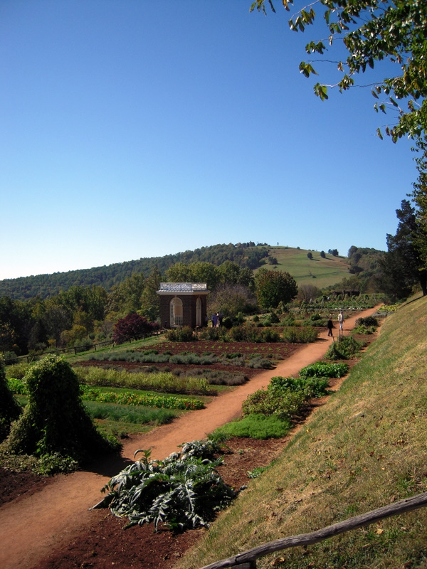 scenic view of Jefferson's working gardens