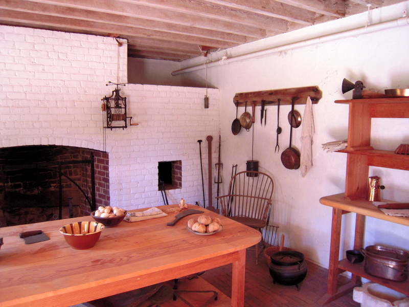 the Monticello kitchen lacked many modern things, like running water!