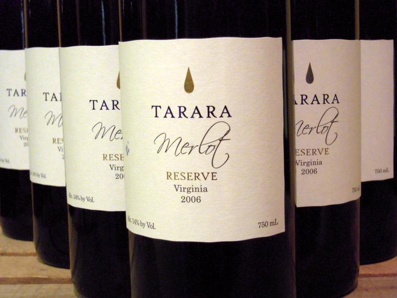 Tarara Merlot Reserve, my personal favorite