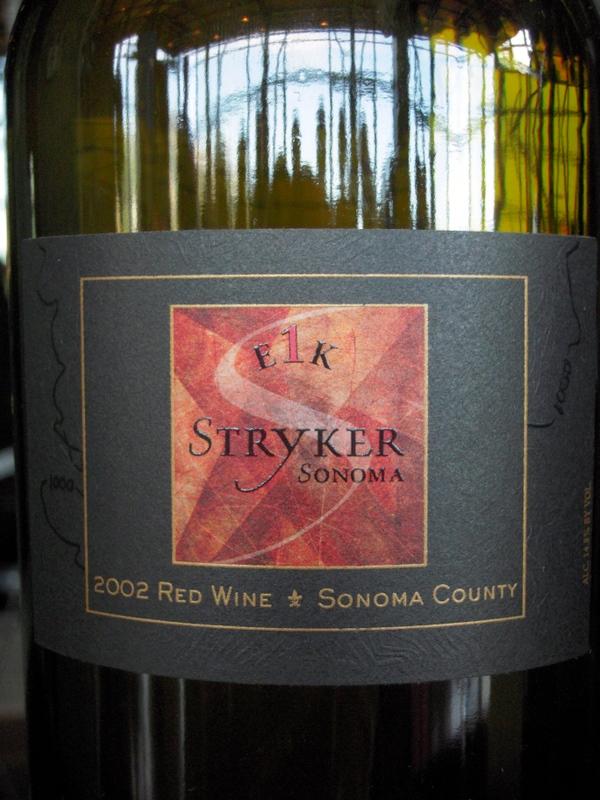 classic Stryker Sonoma bottling