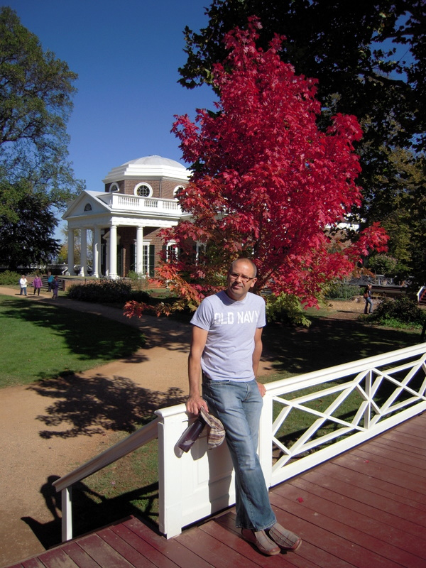 fall foliage at Monticello