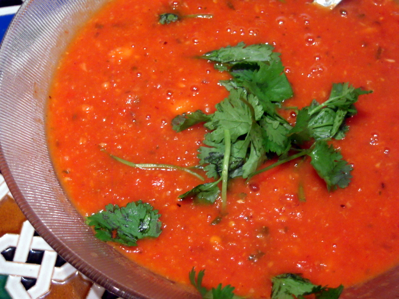roasted tomato pepper garlic soup