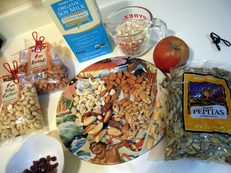 wet granola ingredients