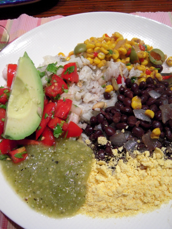 Tex-Mex dinner with spicy southwestern corn