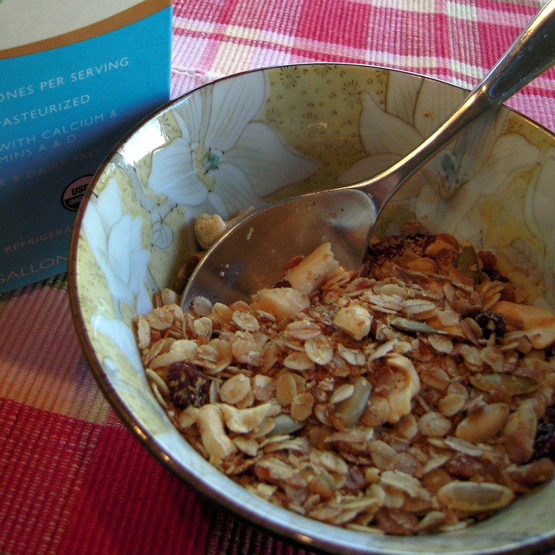 nutty nutty nutty granola for breakfast