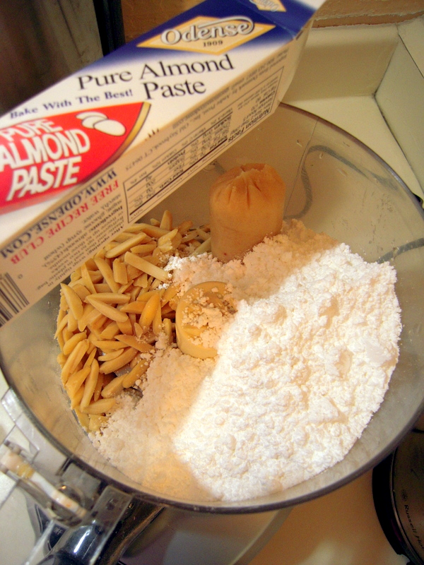 key ingredients for marzipan cashew butter cookies