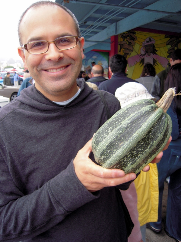 my, what a big squash you have there!