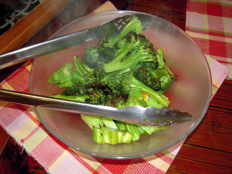 oven roasted brocolli