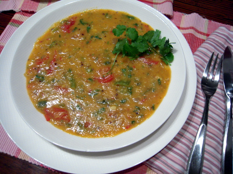 spicy Indian red dal soup