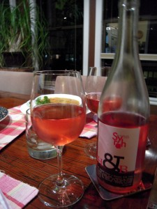 rosé is a good choice with spicy red dal soup