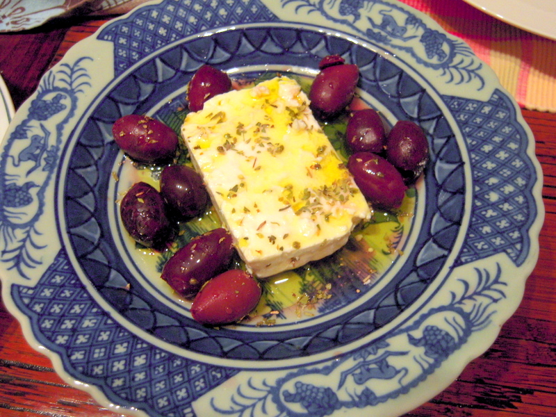 kalamata with feta