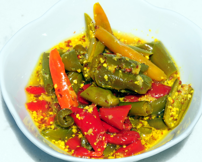 Indian Pickled Peppers Recipe — Dishmaps