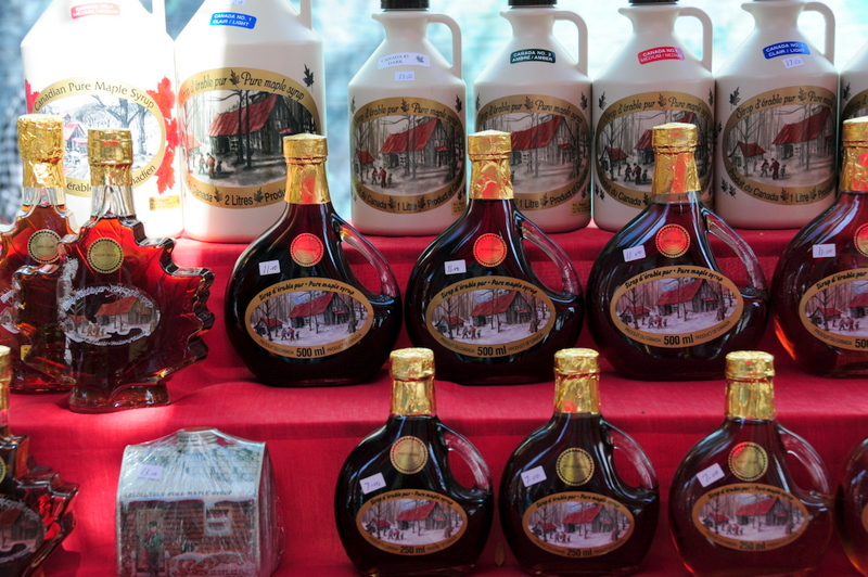 are you even in Canada if you don't come across a display of maple syrup at a farmers market?