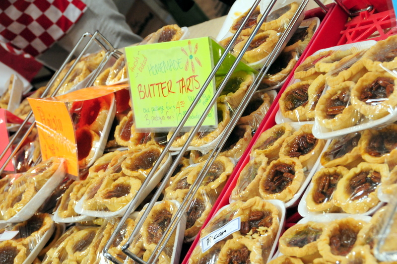 butter tarts at the St. Lawrence farmers market