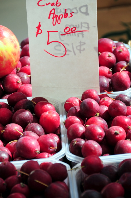 crab apples at St. Lawrence farmers market